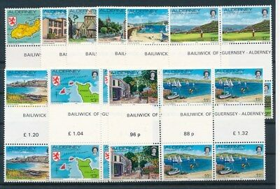 [G94825] Alderney good lot Very Fine MNH stamps all in blocks of 4