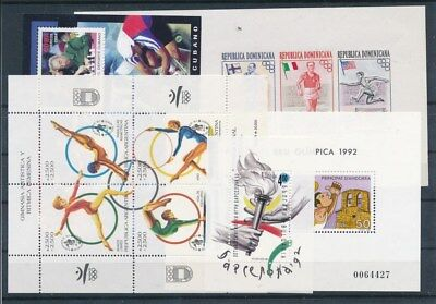 [G95081] Worldwide Olympics 5 good sheets perf./imperf. Very Fine MNH