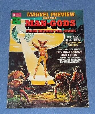 Marvel Preview Presents: Man Gods From Beyond The Stars,  Adams Cover (1975) Vg+