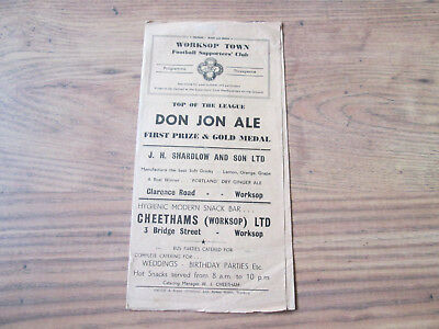 1956/7 WORKSOP TOWN v HULL CITY RESERVES (MIDLAND LEAGUE)