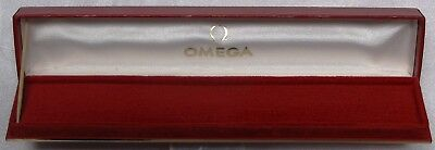 Omega Watch Box, Red, Long Shape , Mr6-287, Mint Condition