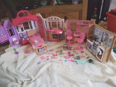 barbie folding house and kitchen