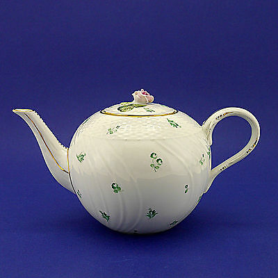 """Beautiful Herend of Hungary Floral Pattern Large Globe Teapot - 18cm/7"""" High"""