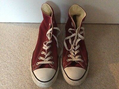 Converse All Star Adult Men's Hi Tops Red Size 11