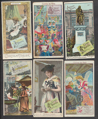 A1516 Antique Advertising: 6 Tobler Chocolate Cards