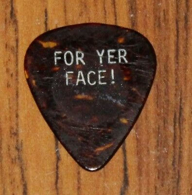Iron Maiden/Dave Murray 1988 Seventh Son Guitar Pick - For Yer Face ! Floor Pick