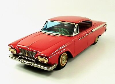 "1961 Plymouth 12"" 2 Door Hardtop Japanese Tin Car  by Ichiko NR"