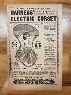 Original Harness' Electric Corset 4 page advertising insert