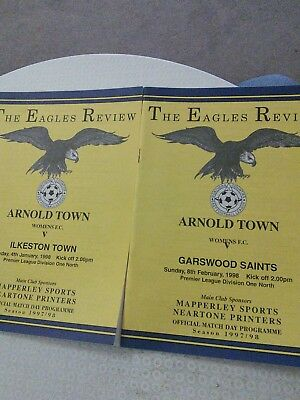 Arnold Town Women v Garswood Saints/Ilkeston Town Ladies 1997/98