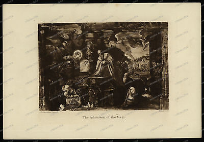 Druck-Stahlstich-Engraving-John-Ruskin-Tintoret-Adoration of the Magi-66