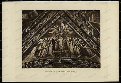 Druck-Stahlstich-Engraving-Alinari-Allen-The Marriage of St.Francis-Poverty-63
