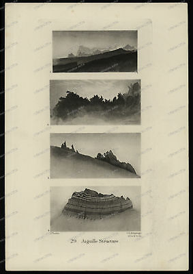 Druck-Stahlstich-Engraving-John-Ruskin-29-Aiguille-Structure-J.C. Armytage-44