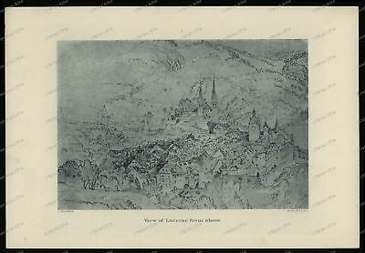 Druck-Stahlstich-Engraving-John-Ruskin-View-of-Lucerne-from-above-Allen&Co-43