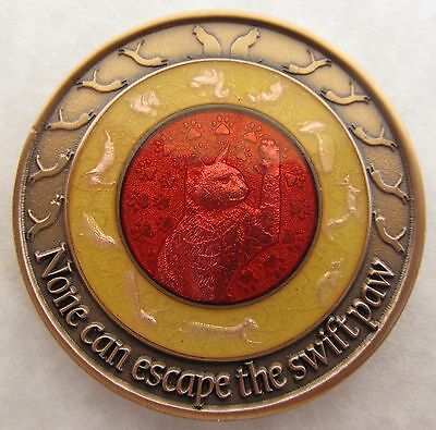 Duncan Geocoin - Rabbit Edition - Cat Coin - Glass on Metal - Limited Edition