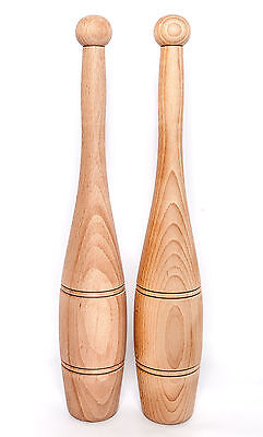 Vintage design Indian Clubs, Exercise Clubs, Clubbells, Wooden clubs, 2Lb 6oz UK