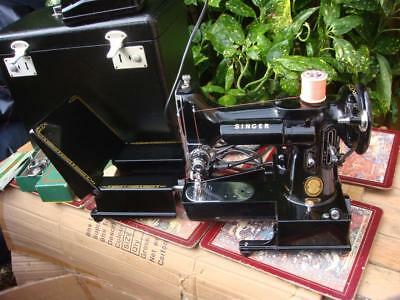 Antique Old Vintage Featherweight Singer sewing machine Model 222k See Video