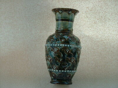 Arts and Crafts Doulton vase, makers mark HW & 1881.