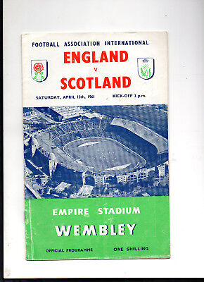 1961 England v Scotland Football Programme