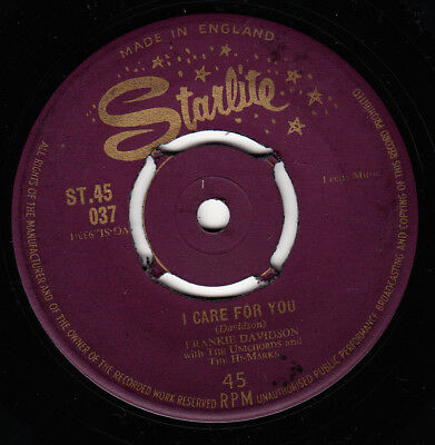 Frankie Davidson 1960 Gold Uk Starlite *i Care For You/you'red Riving Me Crazy*