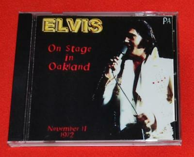 "Elvis ""On Stage in Oakland"" 11/11/72 Oakland, CA Full Elvis Concert CD MINT"