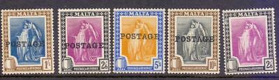 Malta Group of Fine KGV MINT High Values from 1922-26 Vals to 10s