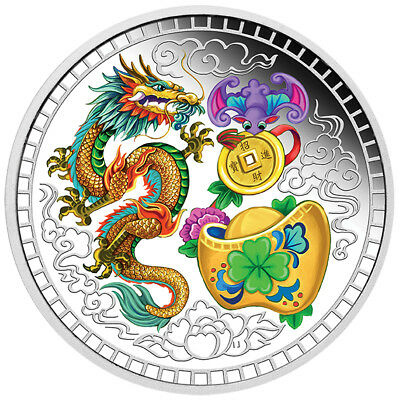 2018 Tuvalu 1 Oz Silber Chinese Blessing 1 AUD BU
