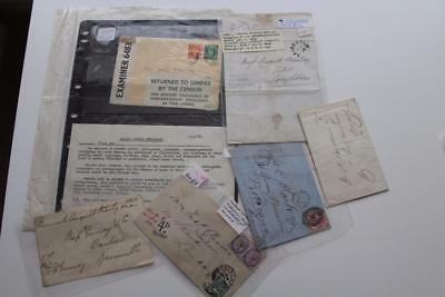 GB - Interesting Group of Postal History Items - Pre-stamp to KGVI Censor
