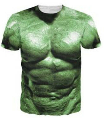a191f29f7 The Hulk Comics Muscle Print 3D T-Shirt Men Women Fashion Casual Short  Sleeve