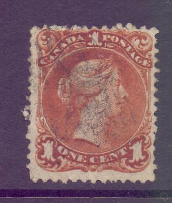1868-71 Canada SG47 1c Red Brown Ottawa Large Head Queen Cat £85 Good-Fine