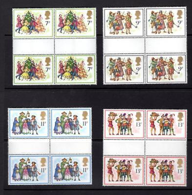 (A251) Gb 1978 Christmas Gutter Quads Mnh More Listed