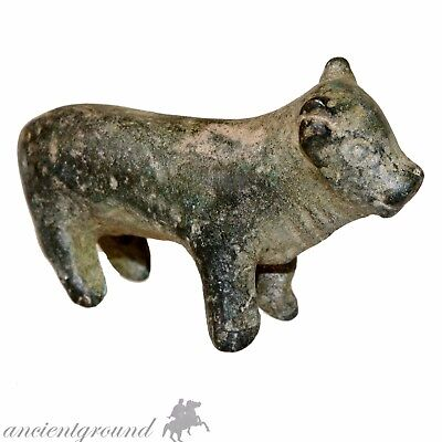Museum Quality Early Byzantine Bronze Cow Statue Circa 500-600 Ad