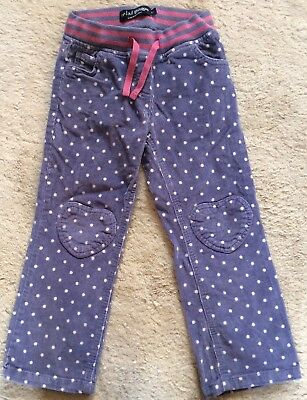 Mini Boden Girls Spotted Cords Jeans 5 Years