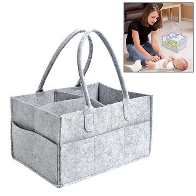 Chic Baby Diaper Caddy Portable Infants Nursing Bin Outdoor Nappy Storage Bag