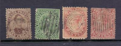 Canada Group of key stamps with faults Large Queens, Albert, Tercentenary