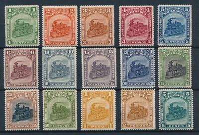 [38610] Nicaragua 1912 Trains Good set of Very Fine MH stamps