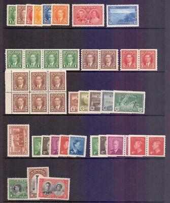 CANADA - A Fine MNH KGVI Collection inc coil pairs
