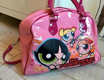💝powerpuff Girls X Large Pink Overnight Bowling Weekender Bag Sports Hold-All