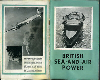 WWII Booklet BRITISH SEA AND AIR POWER  Propaganda