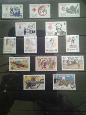 (C27) Isle of man selection MNH collection  collect or postage more listed