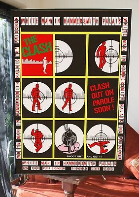 The Clash White Man Hammersmith Promo Poster,sex Pistols,damned,punk,anarchy