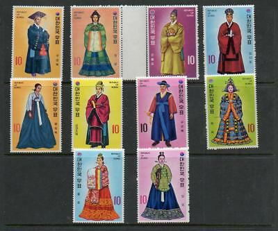 (A33) Korea South 1973 SG1037-1079 Court Costumes of the Yi Dynasty set MLH