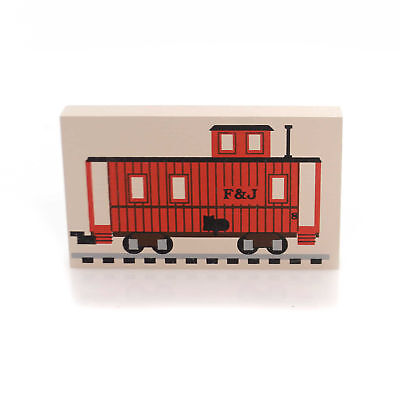 Cats Meow Village CABOOSE TRAIN CAR Wood Accessory Retired Railroad 175