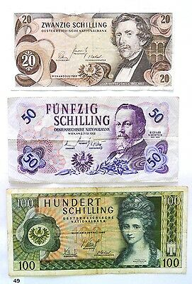 AUSTRIA 20-100 SHILLING FROM 60's !! COMBINE SHIPPING!!