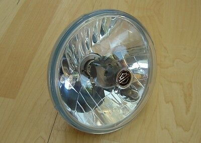 "Harley 5¾"" Headlight Headlamp Optic Lens Light UK Sportster Dyna Softail V-Rod"