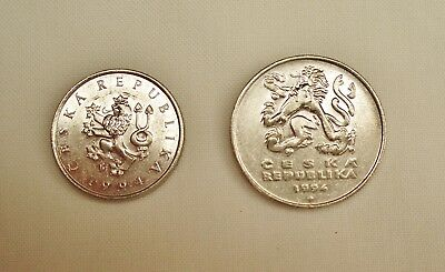 Two coins Czech Republic 1994