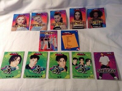 Pepsi Music Trading Cards, THE SPICE GIRLS, Complete set Of 12 cards, Very Rare.