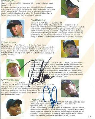 Tiger WOODS Phil MICKELSON Jim FURYK Paul AZINGER etc signed Golf Pictures AFTAL