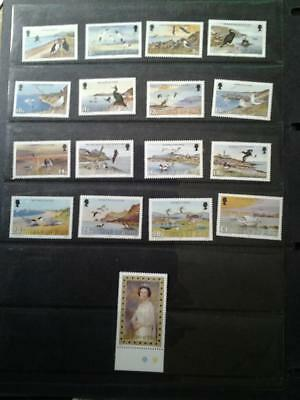 (C19) Isle of man Sea bird definitives plus £5 queen MNH collect or postage