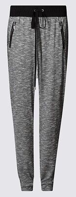 Marks&Spencer Womens Gym Pants LoungeWear Joggers M&S Jogging Bottoms 10 Regular