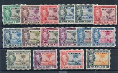 [54409] Gambia 1938-46 good set MH Very Fine stamps $90